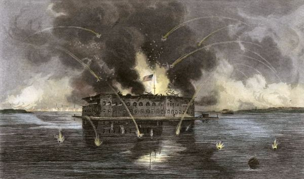 The Bombardment of Fort Sumter | Image Credit: learnnc.org