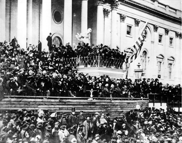 Abraham Lincoln's Second Inauguration | Image Credit: Wikispaces.com