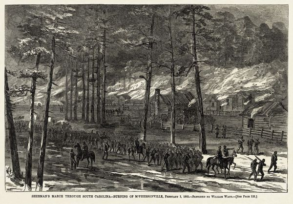 The Burning of McPhersonville | Image Credit: Wikipedia.org