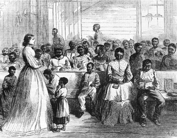 A Freedmen's Bureau School | Image Credit: LatinAmericanStudies.org