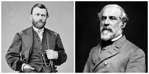 Lieut Gen U.S. Grant and Gen R.E. Lee | Image Credit: Wikispaces.com