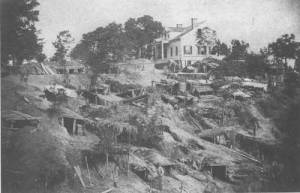 Shelters dug into the hills during the siege of Vicksburg | Image Credit: CivilWarDailyGazette.com