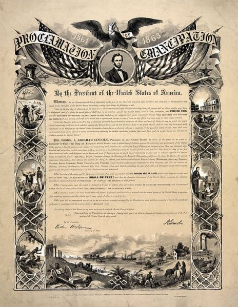emancipation proclamation prliminary events essay