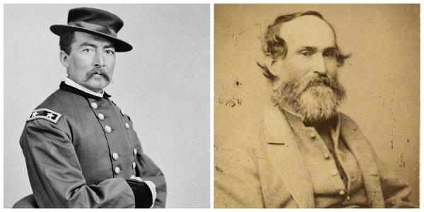 Federal Maj Gen Philip Sheridan and Confederate Lt Gen Jubal Early | Image Credit: Wikipedia.org
