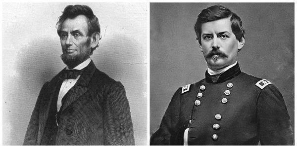 Abraham Lincoln and George B. McClellan | Image Credit: Wikipedia.org
