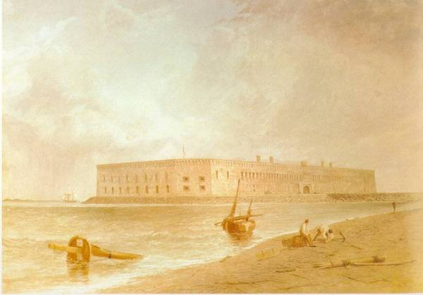 Fort Sumter in Charleston Harbor | Image Credit: Learnnc.org