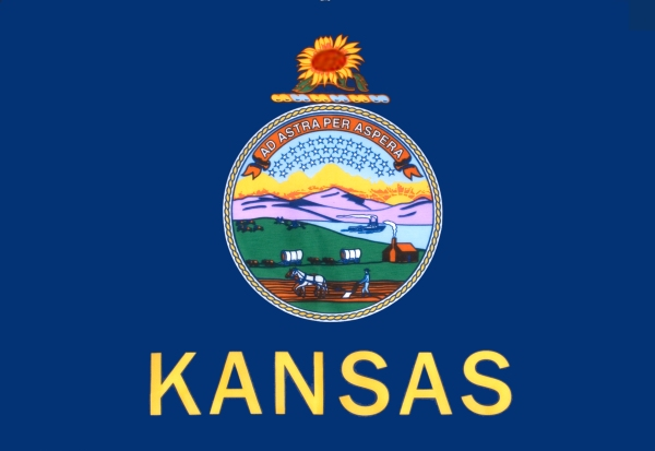 Kansas State Flag Adopted in 1861 | Image Credit: K-State.edu