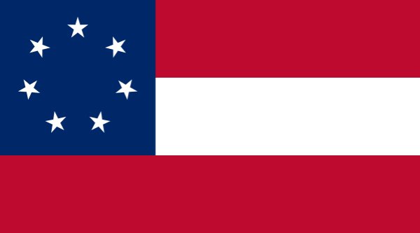 The 1st Confederate National Flag | Image Credit: RussellHarrison.com