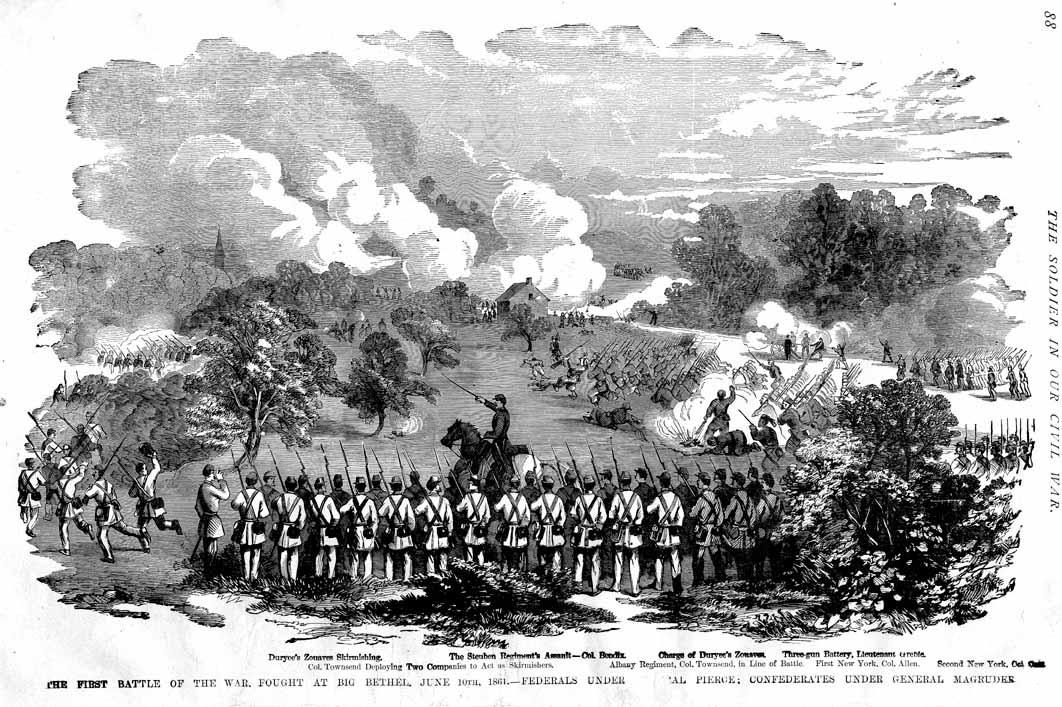 Image result for Battle of Big Bethel, Virginia