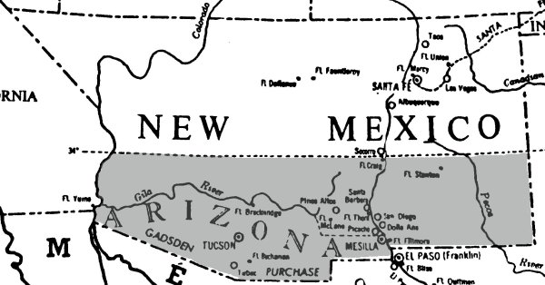 The Confederate Territory of Arizona | Image Credit: CivilWarDailyGazette.com