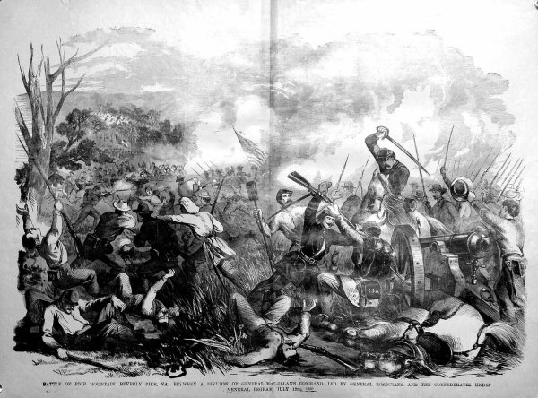 The Battle of Rich Mountain | Image Credit: CivilWarDailyGazette.com