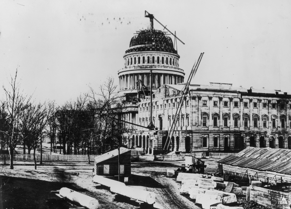 U.S. Capitol Building under construction, circa 1861 | Image Credit: Wikimedia.org