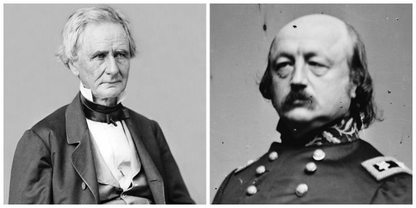 U.S. Secretary of War Simon Cameron and Major General Benjamin F. Butler | Image Credit: Wikimedia.org