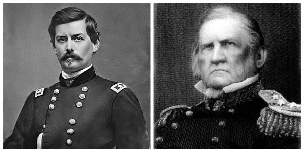 George B. McClellan and Winfield Scott | Image Credit: Wikimedia.org