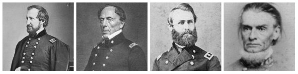 Generals Rosecrans, Floyd, Cox, and Wise | Image Credit: Wikimedia.org