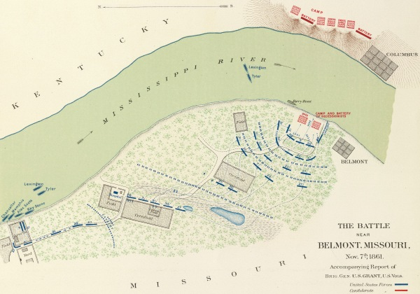 Map of the engagement at Belmont | Image Credit: Wikipedia.org