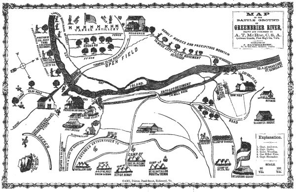 Greenbrier River Map | Image Credit: CivilWarDailyGazette.com