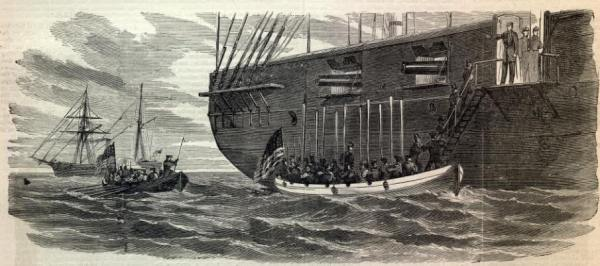 Boarding the Trent | Image Credit: CivilWarDailyGazette.com