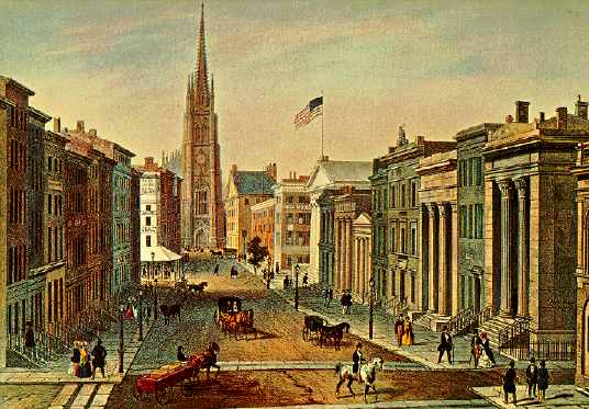 Wall Street, New York, circa 1850s | Image Credit: Wikimedia.org