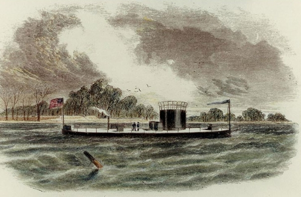 The U.S.S. Monitor | Image Credit: CivilWarDailyGazette.com