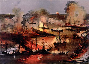 Action at Forts Jackson and St. Philip | Image Credit: Wikipedia.org