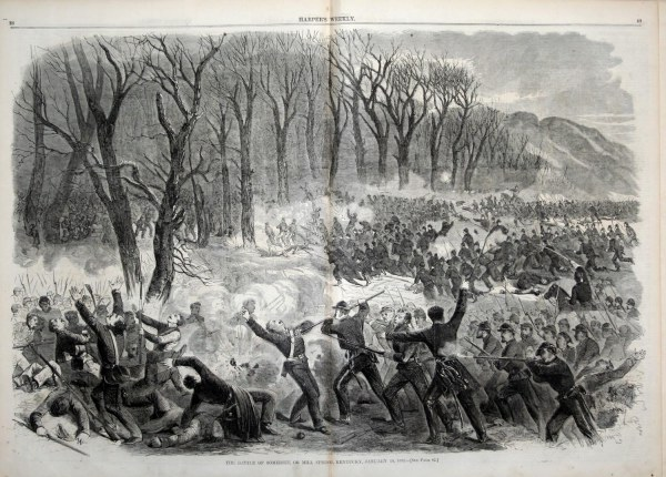 The Battle of Mill Springs (Harper's Weekly) | Image Credit: CivilWarDailyGazette.com