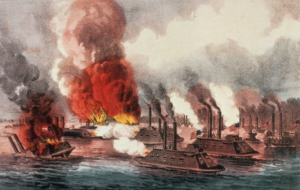 The fight on the Mississippi | Image Credit: CivilWarDailyGazette.com