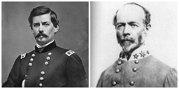 Gens G.B. McClellan and J.E. Johnston | Image Credit: Wikipedia.org