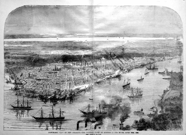 Federals arrive at New Orleans | Image Credit: CivilWarDailyGazette.com