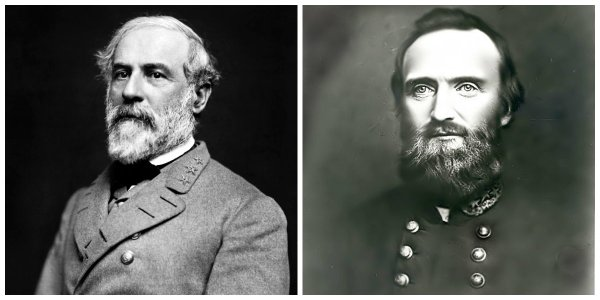 Gens R.E. Lee and T.J. Jackson | Image Credit: Wikipedia.org